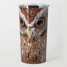 Painted Owl Travel Mug