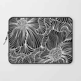 Flowers all over black Laptop Sleeve