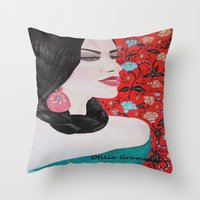 spanish Throw Pillows featuring Spanish Dreaming by otilia elena