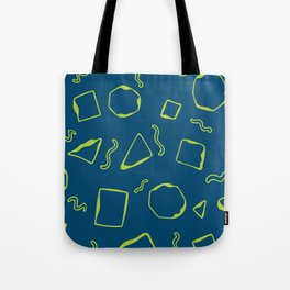 Wiggly - Blue and Green Tote Bag