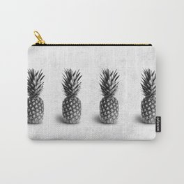 Pineapple Black and White Carry-All Pouch