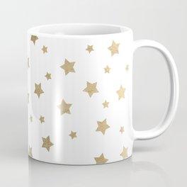 Modern gold Christmas stars geometric pattern Coffee Mug