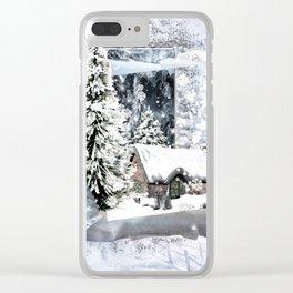 Winterwunderland Clear iPhone Case