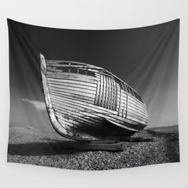 A Lonely Boat Wall Tapestry