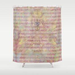 Art Journal 1 - Hint of an Angel Shower Curtain