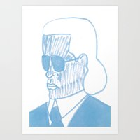 karl Art Prints featuring KARL by Kathryn Nyquist