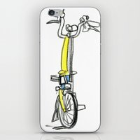 brompton iPhone & iPod Skins featuring Brompton front view by Swasky