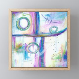 Just the Three of Us, Abstract Art Painting Framed Mini Art Print