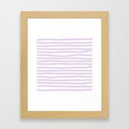 Lilac Stripes Horizontal Framed Art Print