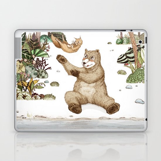 Mr.Brown is playing with the squirrel Laptop & iPad Skin
