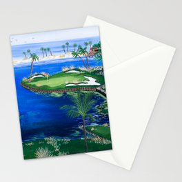 18th hole at the Beach Stationery Cards