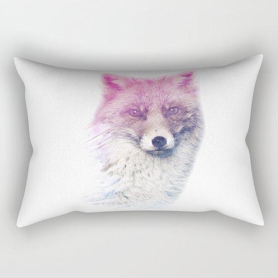 FOX SUPERIMPOSED WATERCOLOR Rectangular Pillow
