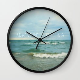 Adventure is Calling - Waves Wall Clock