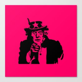 Neon Pink Uncle Trump Needs You Canvas Print