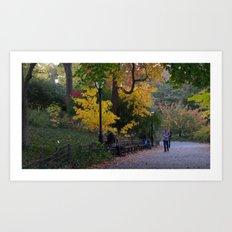 Central Park Fall Series 4 Art Print