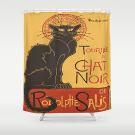 Tournee du Chat Noir De Rodolphe Salis Vector Shower Curtain