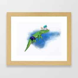 Story time with Unlikely Friends Kenny Croc and Sam the Storyteller Framed Art Print
