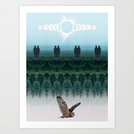 Fourth Dimension Owl by GEN Z Art Print