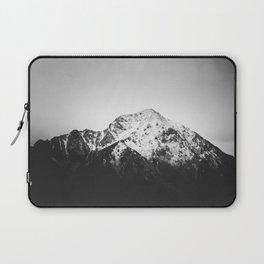 Black and white snowy mountain Laptop Sleeve