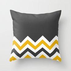 Color Blocked Chevron 14 Throw Pillow