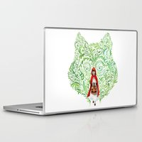 red riding hood Laptop & iPad Skins featuring Red Riding Hood by Stephane Lauzon