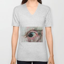 Watercolour Bulbous Eye  Unisex V-Neck