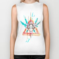 mother Biker Tanks featuring MOTHER by Mikah Washed