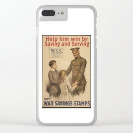 Vintage US War Savings Stamps Clear iPhone Case