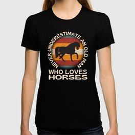 Old Man Who Loves Horses T-shirt