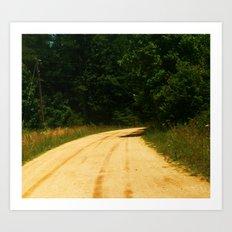 country raod Art Print