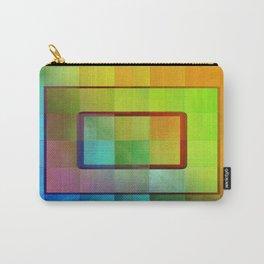 Aperture #3 Vibrant Fractal Pleat Texture Design Carry-All Pouch