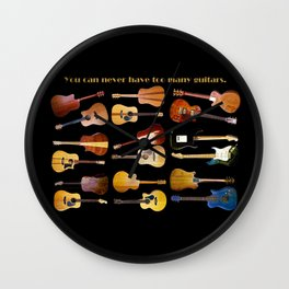 Guitars Galore Wall Clock