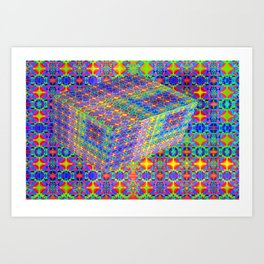 0607 Pattern on the box ... Art Print