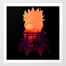 Fire Shadow Art Print