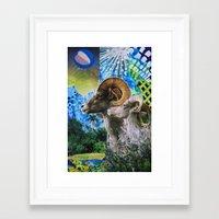 ram Framed Art Prints featuring Ram by John Turck