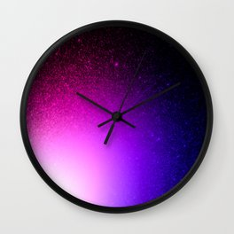 Fuchsia Purple Blue Ombre Wall Clock