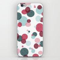 polka iPhone & iPod Skins featuring Polka by Nichole B.