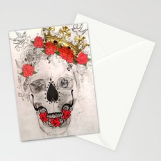 Skull With Crown Stationery Cards