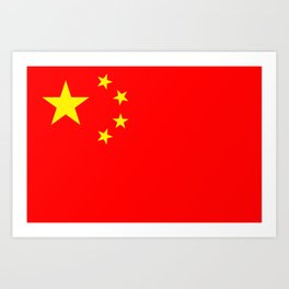 Chinese Flag Sticker & More Art Print