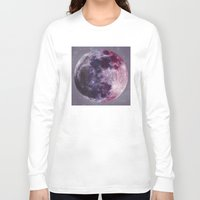 moon phases Long Sleeve T-shirts featuring Phases of the Moon by De(b)sign