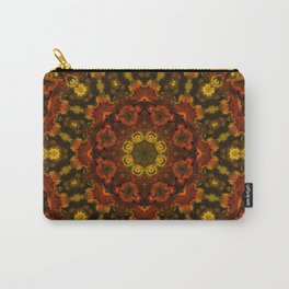 Red Orange and Yellow Kaleidoscope 3 Carry-All Pouch