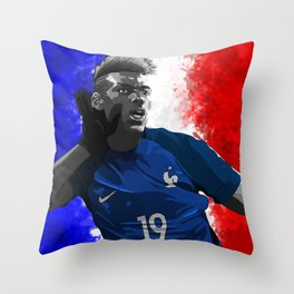 Paul Pogba - France Throw Pillow