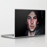 vampire diaries Laptop & iPad Skins featuring Ian Somerhalder (Damon from Vampire Diaries) by Britanee LeeAnn Sickles