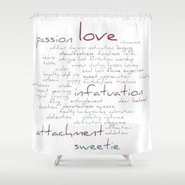 Love Word Cloud Shower Curtain