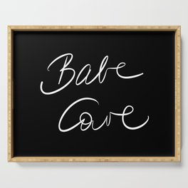 Babe Cave - Black and White Serving Tray