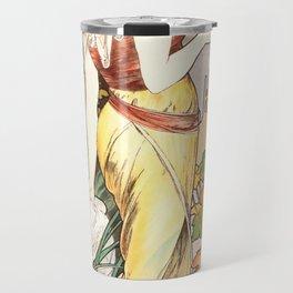 "Alphonse Mucha ""Cognac Bisquit"" Travel Mug"