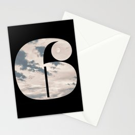 Nr. 6 | Numbers with a View | Typography Letter Art Stationery Cards