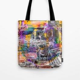 """Lost The Plot In The Last Quarter (or Art Instructors Hate The Term """"Cathartic"""", So...) Tote Bag"""