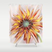 sunflower Shower Curtains featuring Sunflower by Klara Acel