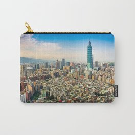 Aerial view and cityscape of Taipei, Taiwan Carry-All Pouch